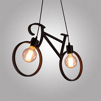 DIY Bicycle Pendant Lamp