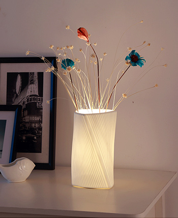 DIY White Led Vase