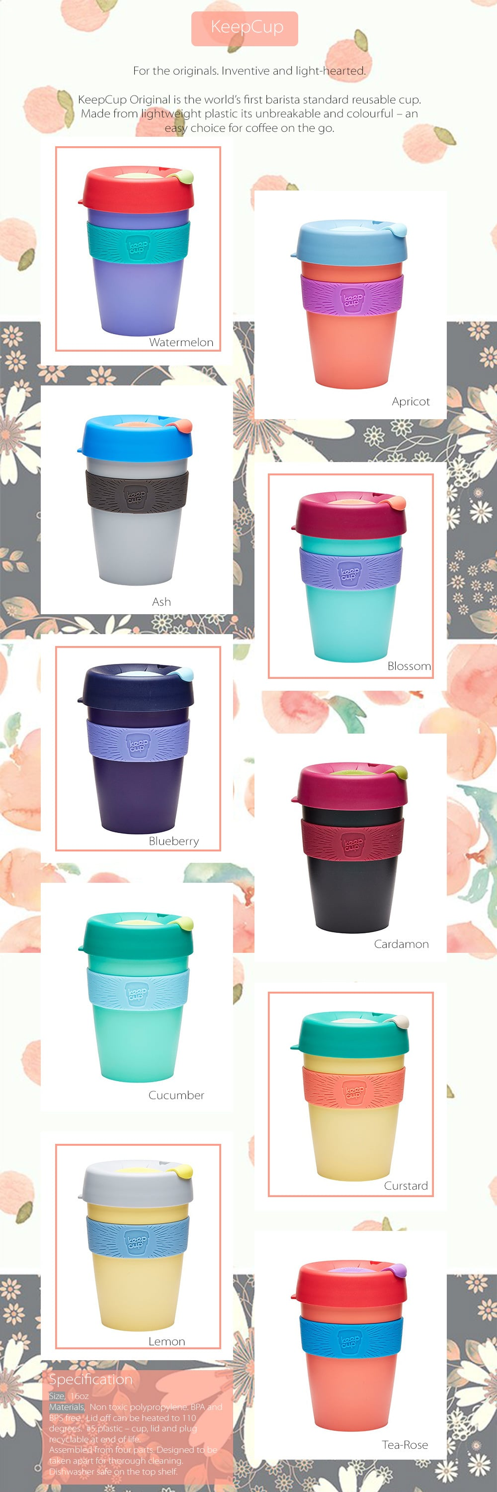 KeepCup Original World's First Barista Sandard Reusable Cup