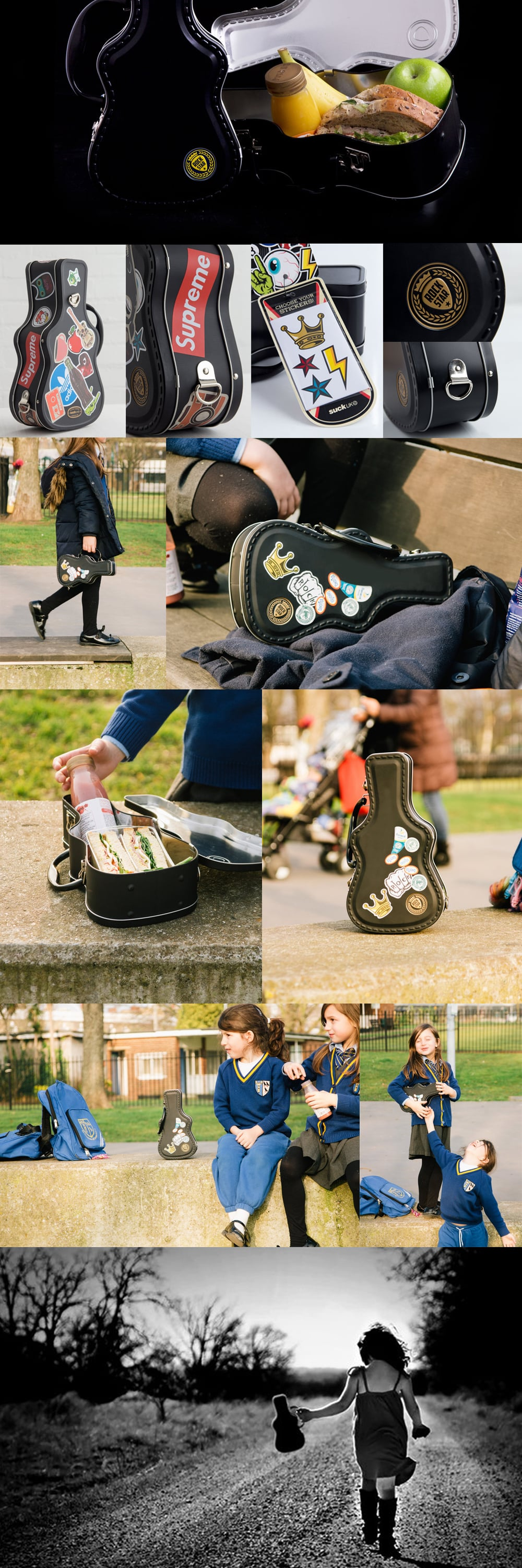Guitar Case Lunch Box Carry Sandwiches Like A Rock-Star