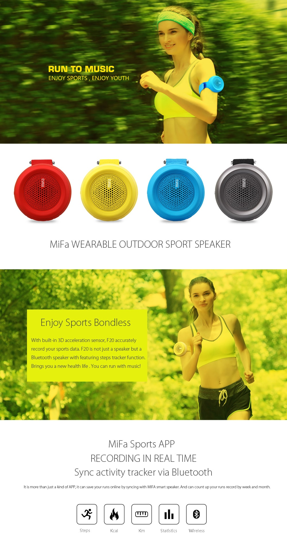 MiFA Wireless Outdoor Bluetooth Speaker Young Forever