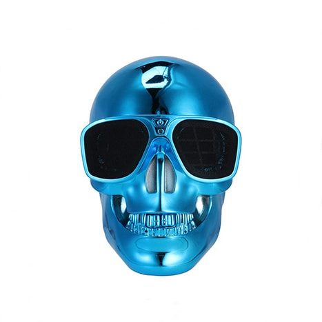 Metallic Skull Bluetooth Speaker