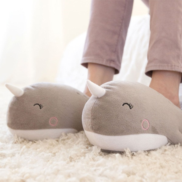 product image for Narwhal USB Heated Slippers
