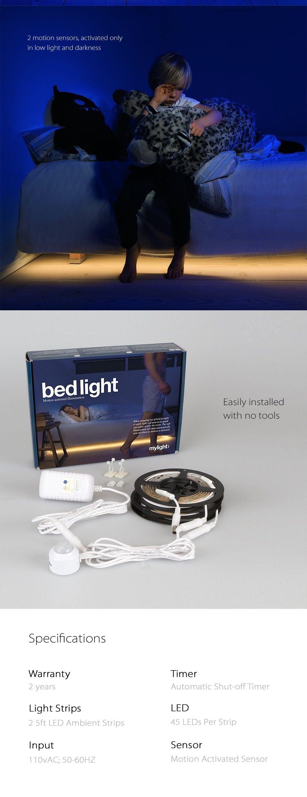 Motion Activated Bedlight Provide Comfort And Safety In Your Home