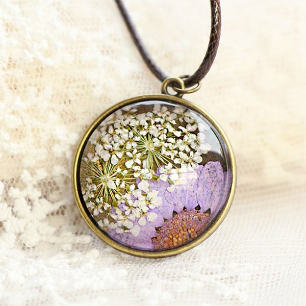 product image for Pressed Flower Necklace