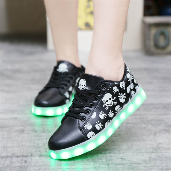 Skulls LED Light Up Shoes