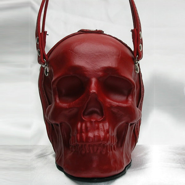 product image for Leather Skull Clutch