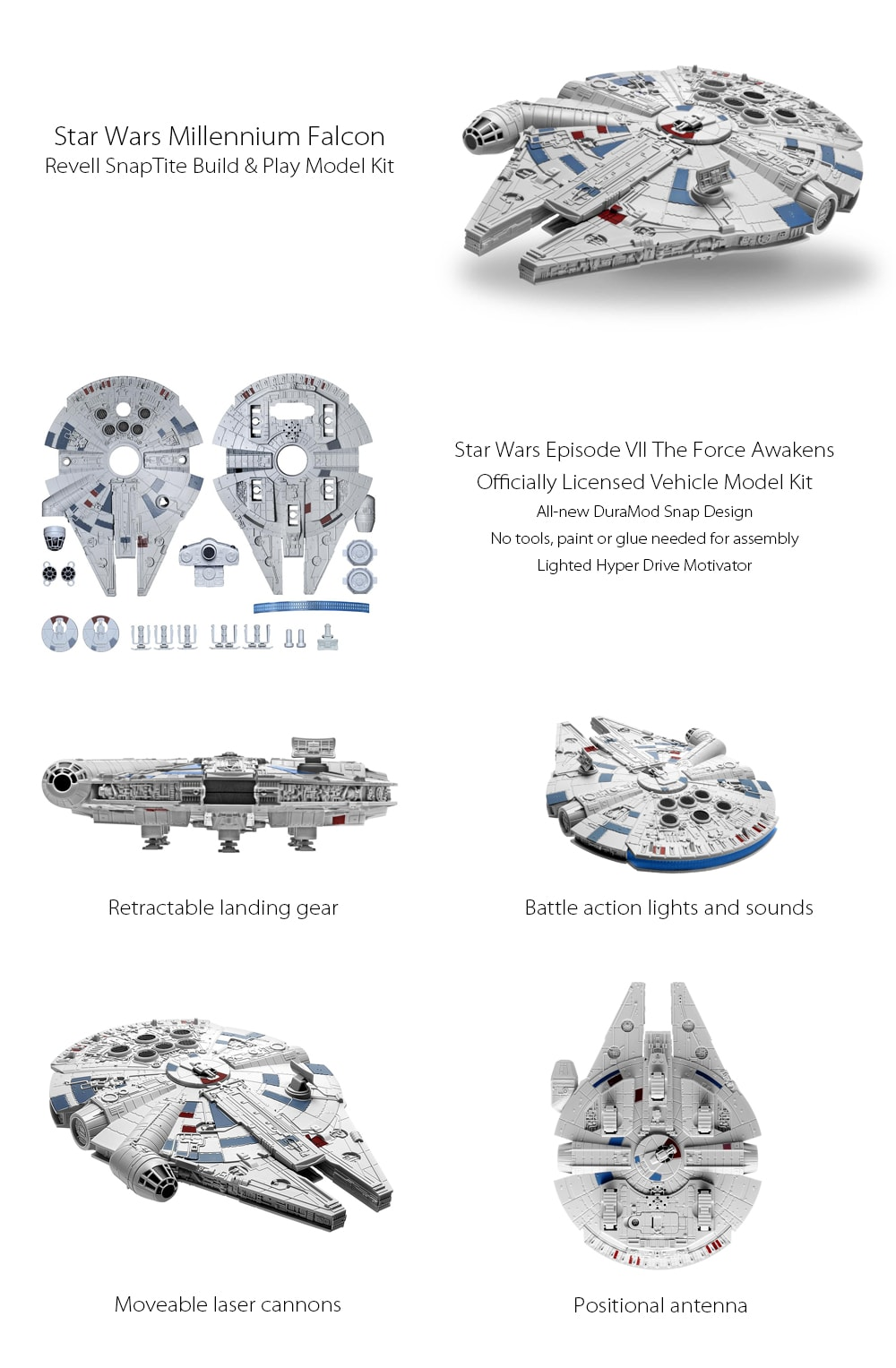 Millennium Falcon Model Kit Build the Ship With Your Kids