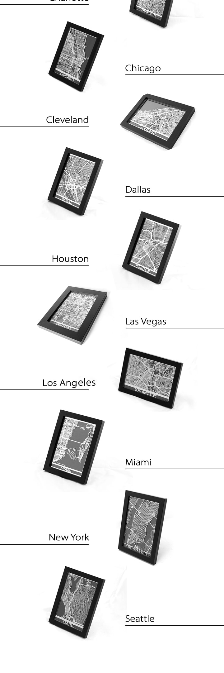 Steel Maps For US Cities ApolloBox - Steel maps of us cities