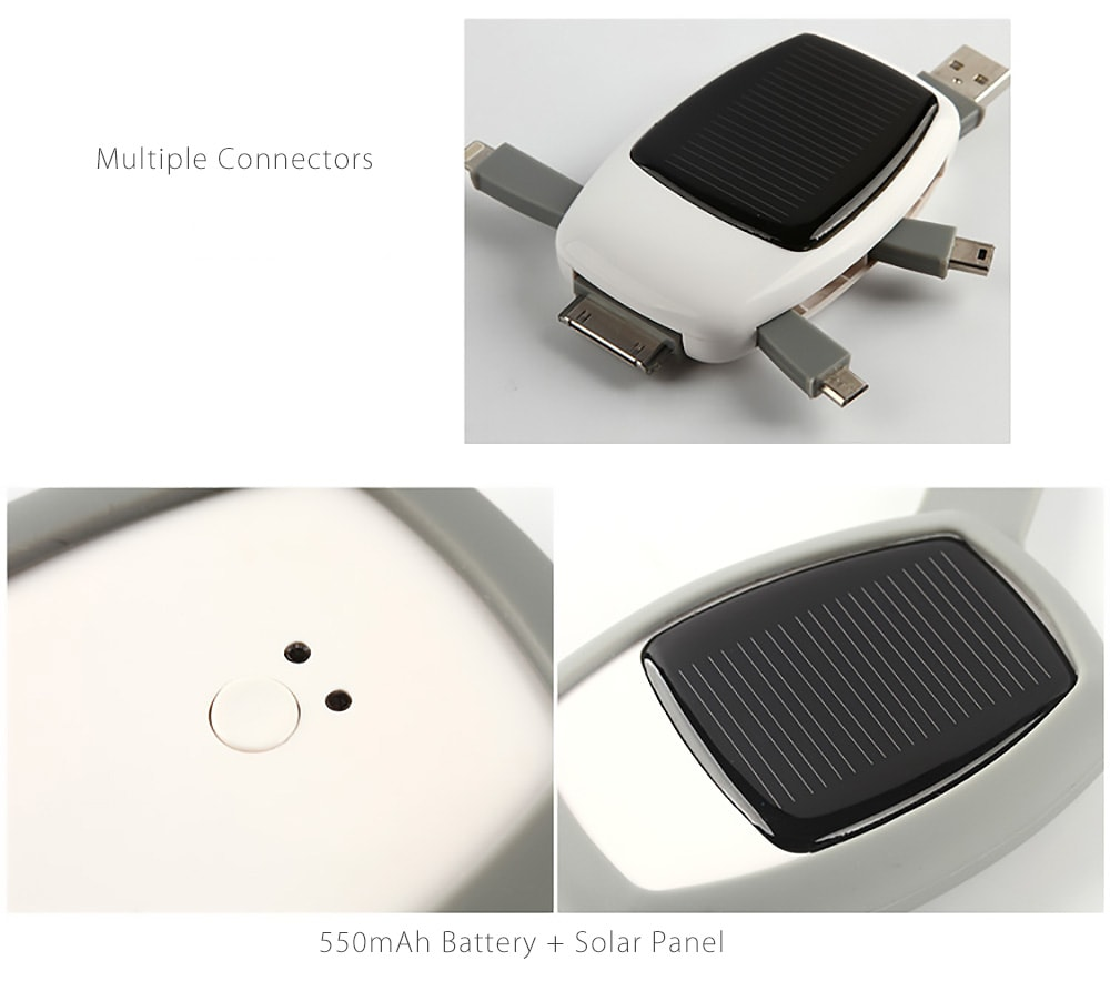 Solar Charger Backup Power Bank Your problem, solved