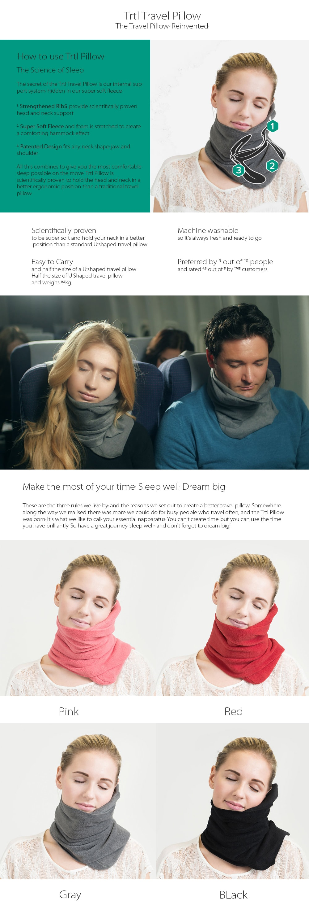 Trtl Travel Pillow The Science of Sleep