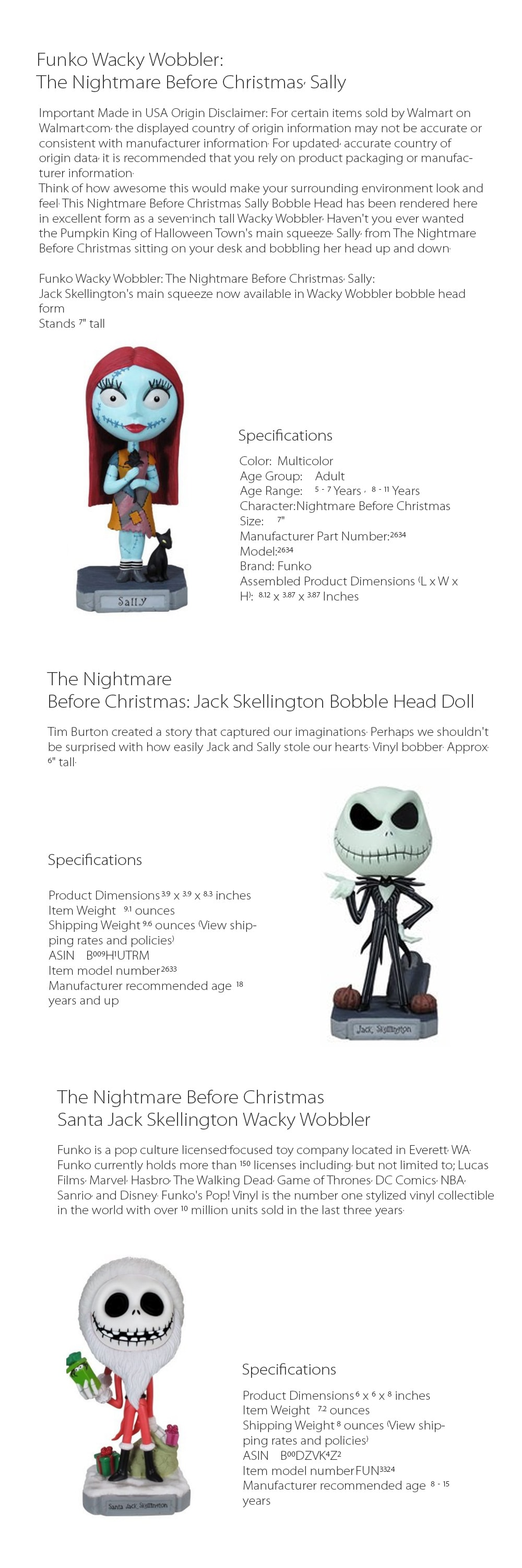 The Nightmare Before Christmas - Wobbler Great Christmas Gifts