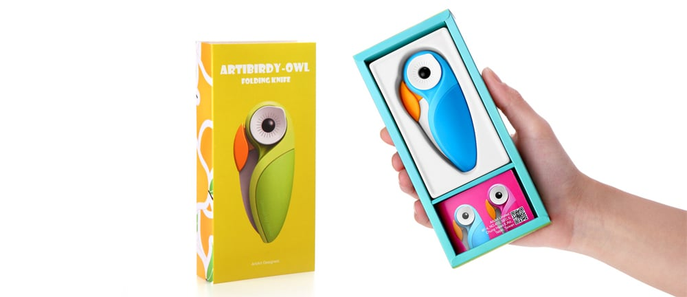 ARTIBIRDY OWL FOLDING KNIFE A design can change your kitchen.