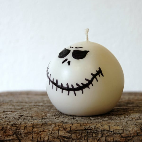 Jack Skellington Handmade Candle