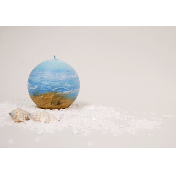 Sky Sea and Dunes Candle