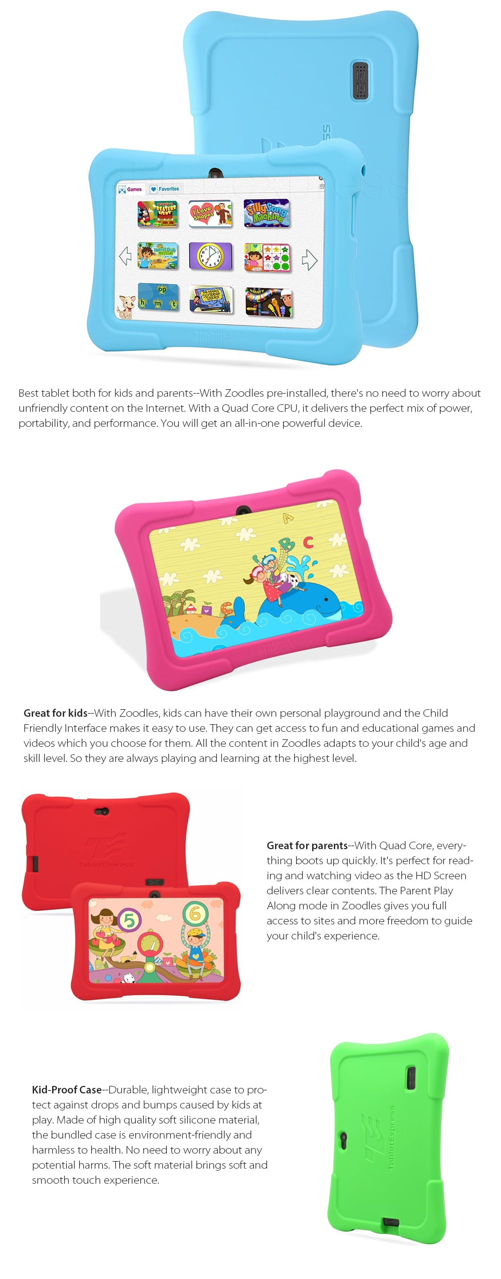 7-Inch Android Kids Tablet Great For Kids And Parents
