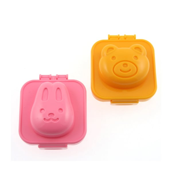 Plastic Egg Mold (Rabbit and Bear)