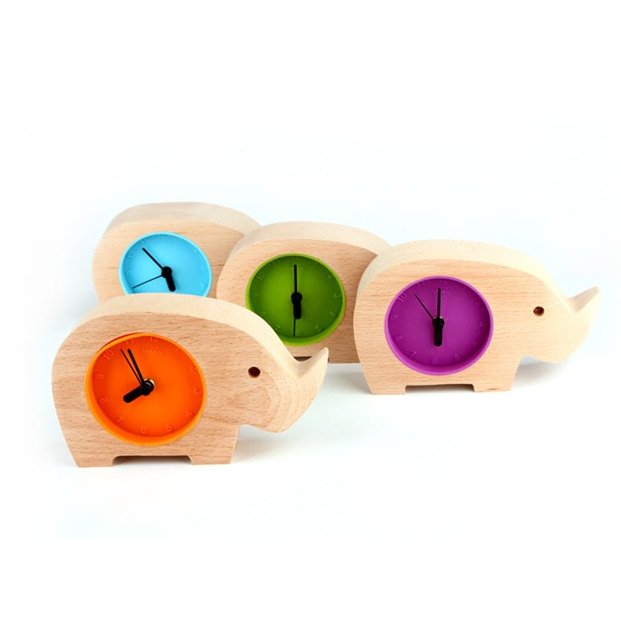 product image for Handmade Elephant Wooden Clock