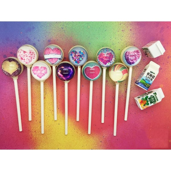 Sweetheart Lollipops (a set of 10)