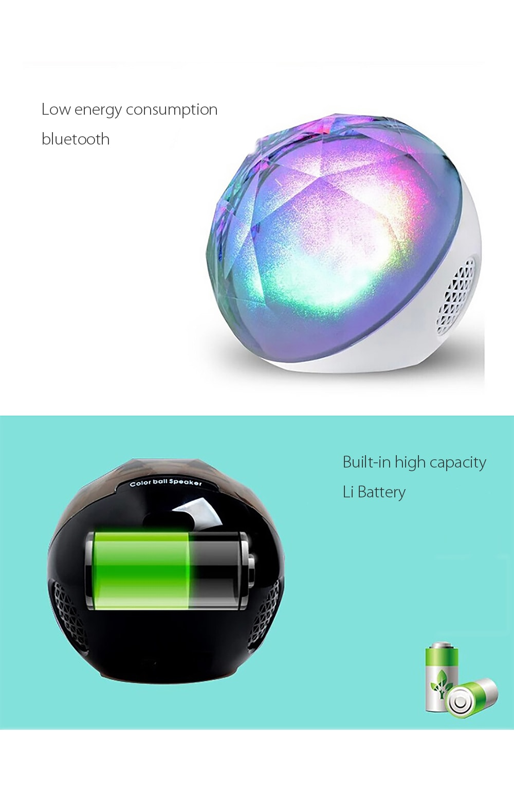 Magic Color Ball Bluetooth Speaker Go Wireless