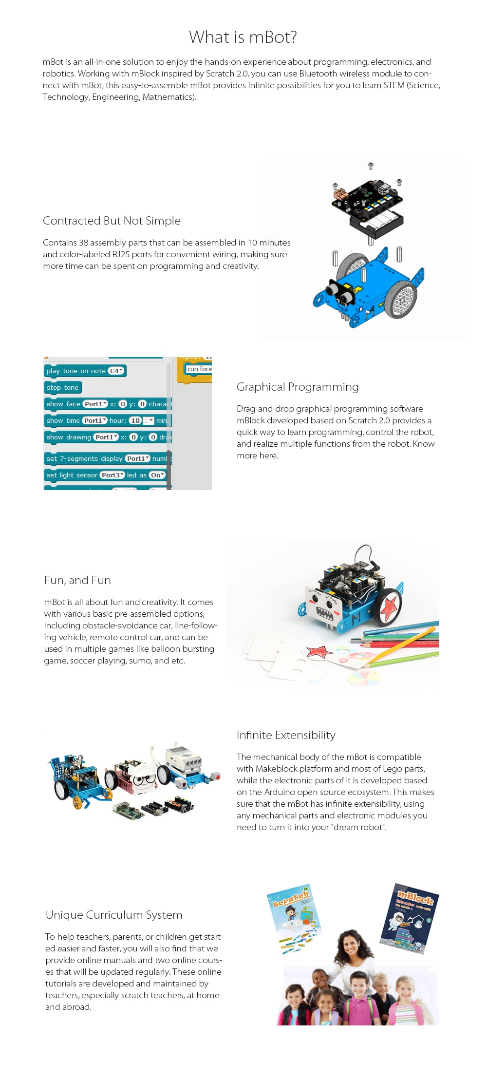 mBot - STEM Educational Robot Kit Construct Your Dreams