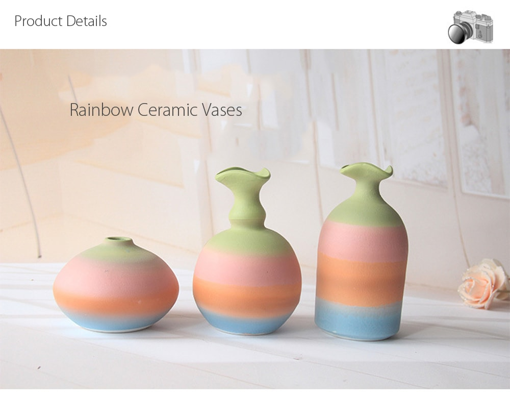 Rainbow Ceramic Vase Extraordinary masterpiece