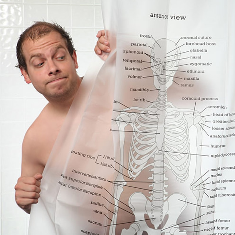 product thumbnail image for Human Skeleton Shower Curtain