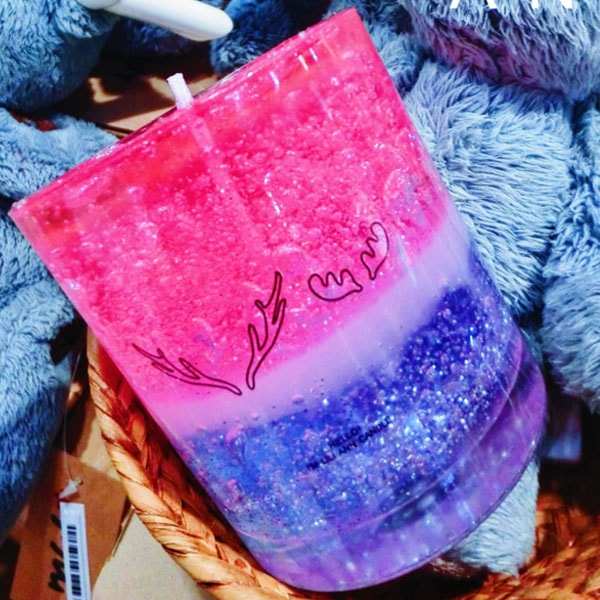 Starry Night Candle - Pink and Purple