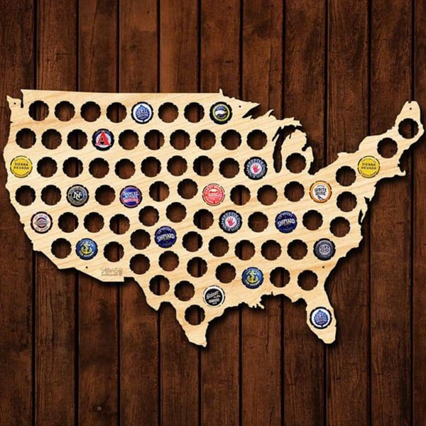 product image for Beer Cap Map Of USA