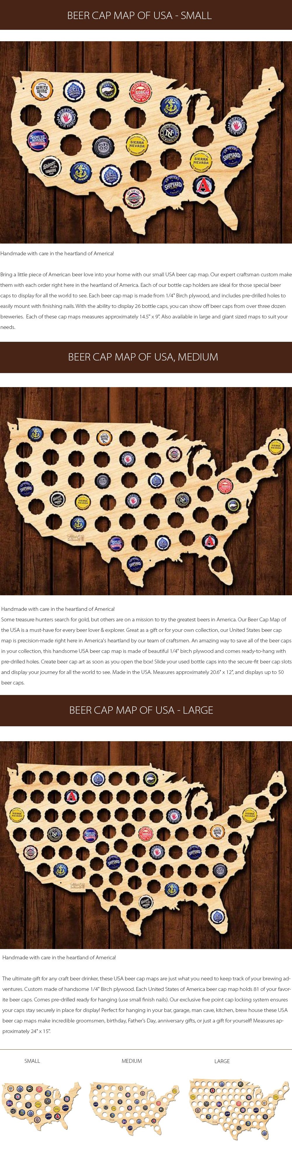 Beer Cap Map Of USA A Must-have For Every Beer Lover & Explorer