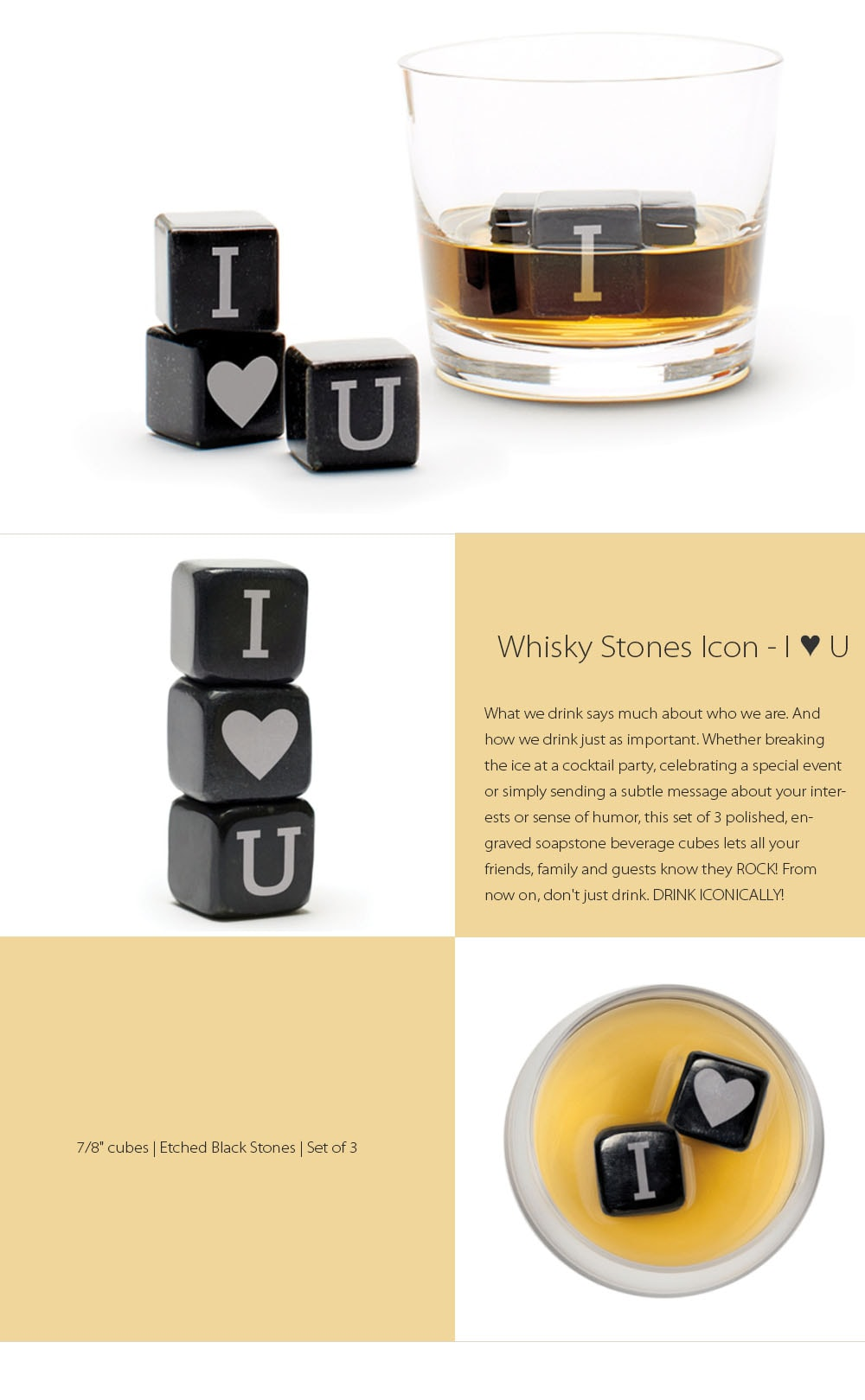 Whisky Stones Icon I Love You What We Drink Says Much About Who We Are