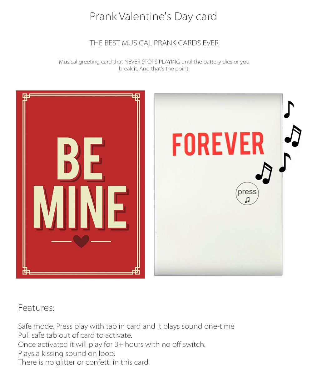 Valentines Day Card The Best Musical Prank Cards Ever