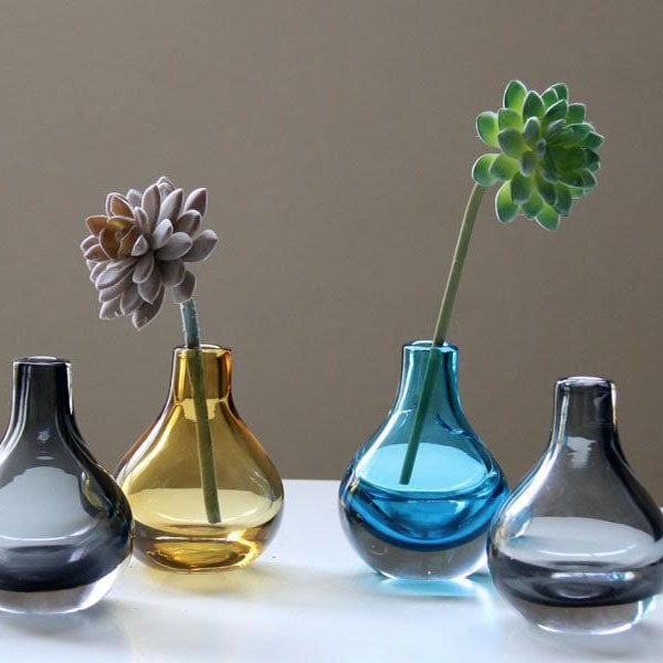 Mini Modern Glass Bottle Vases