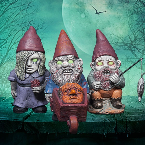 Mini Zombie Gnomes (Set of 3)