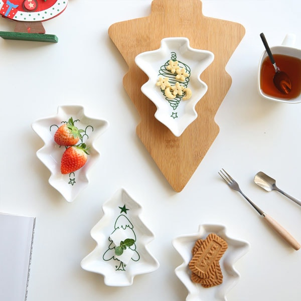 Japanese Christmas Tree Shape Salad Plate