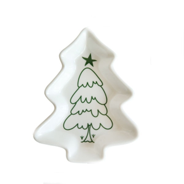 product image for Japanese Christmas Tree Shape Salad Plate