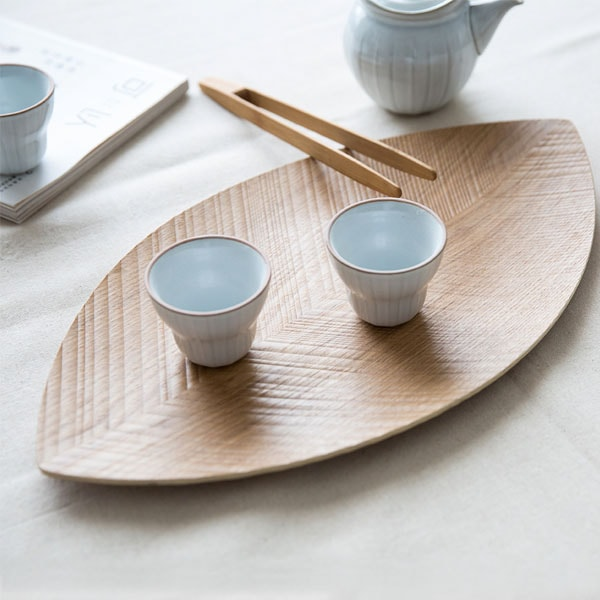 Leaf Shaped Wood Platter