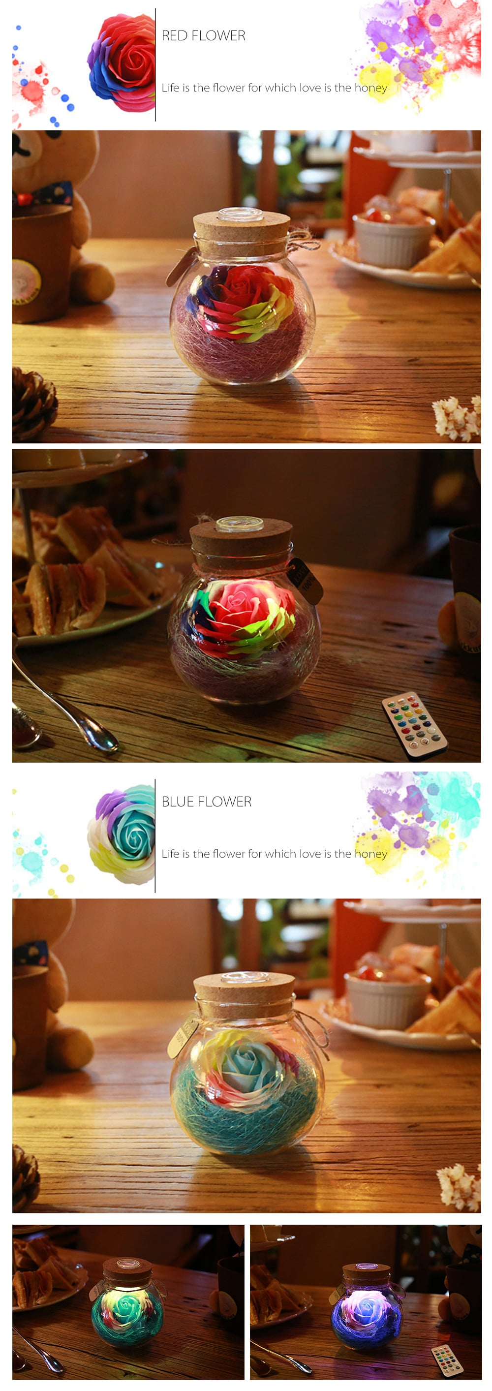 Rose Light Bottle Romantic Gift For Your Girlfriend