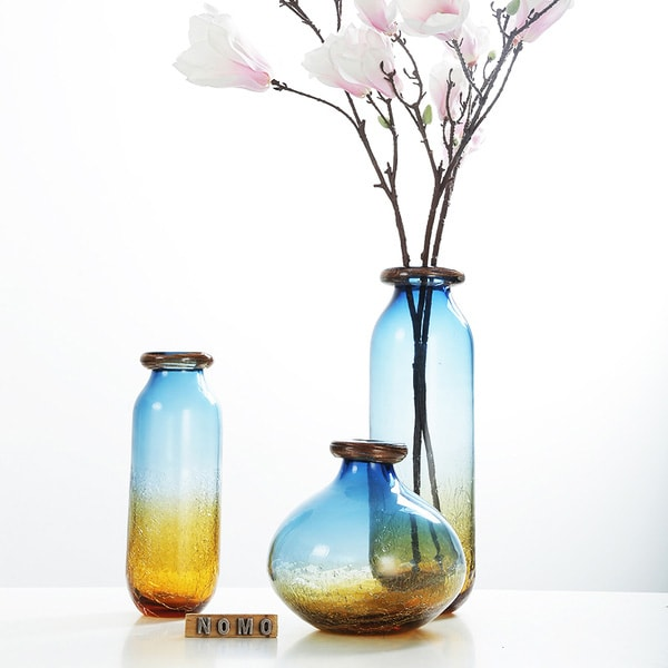 Hand-blown Gradient Glass Vase