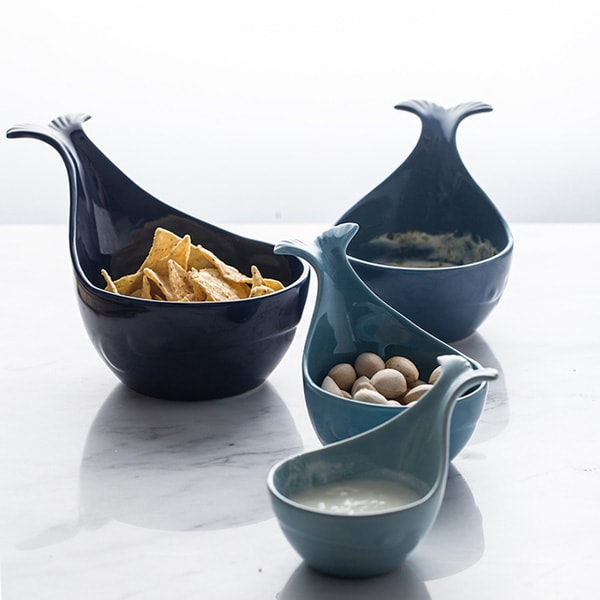Whale Shaped Ceramic Bowls (set of 3)
