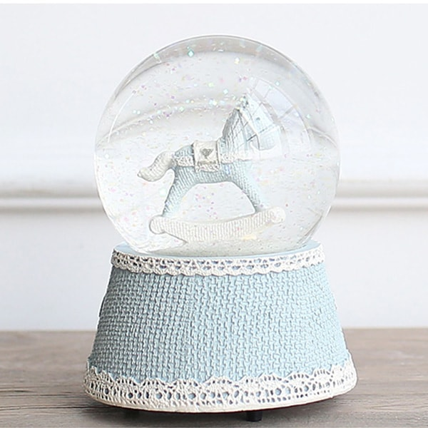 product image for Little Blue Pony Musical Water Globe