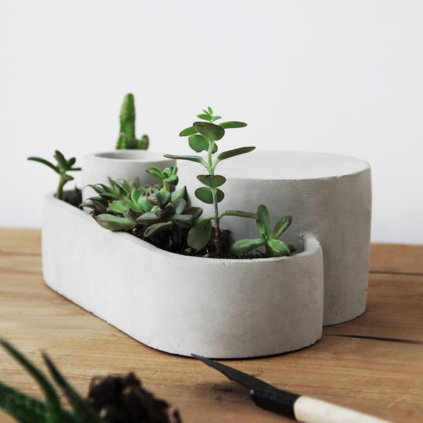 Concrete Geometric Shape Succulent Planter