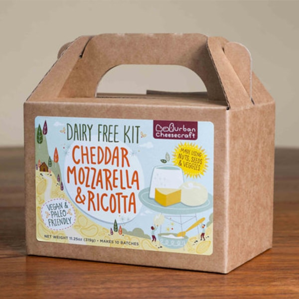 product thumbnail image for DAIRY FREE Cheddar, Mozzarella & Ricotta DIY Kit