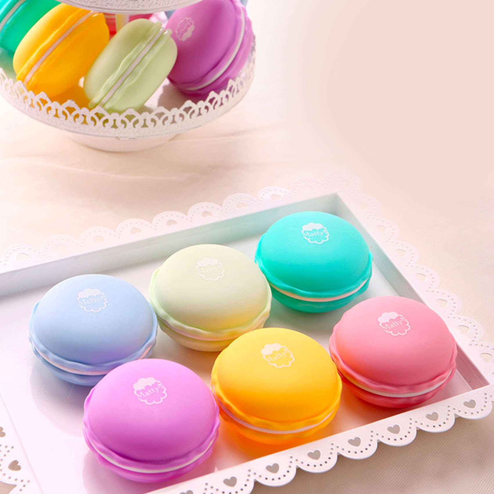 Macaron Storage Containers (Set of 6)