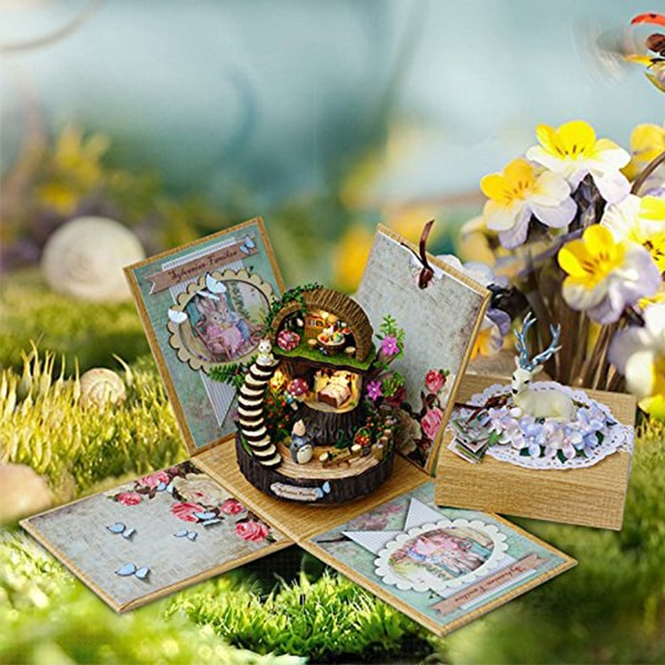 Miniature Diy Dolls House Kit Fantasy Forest Apollobox