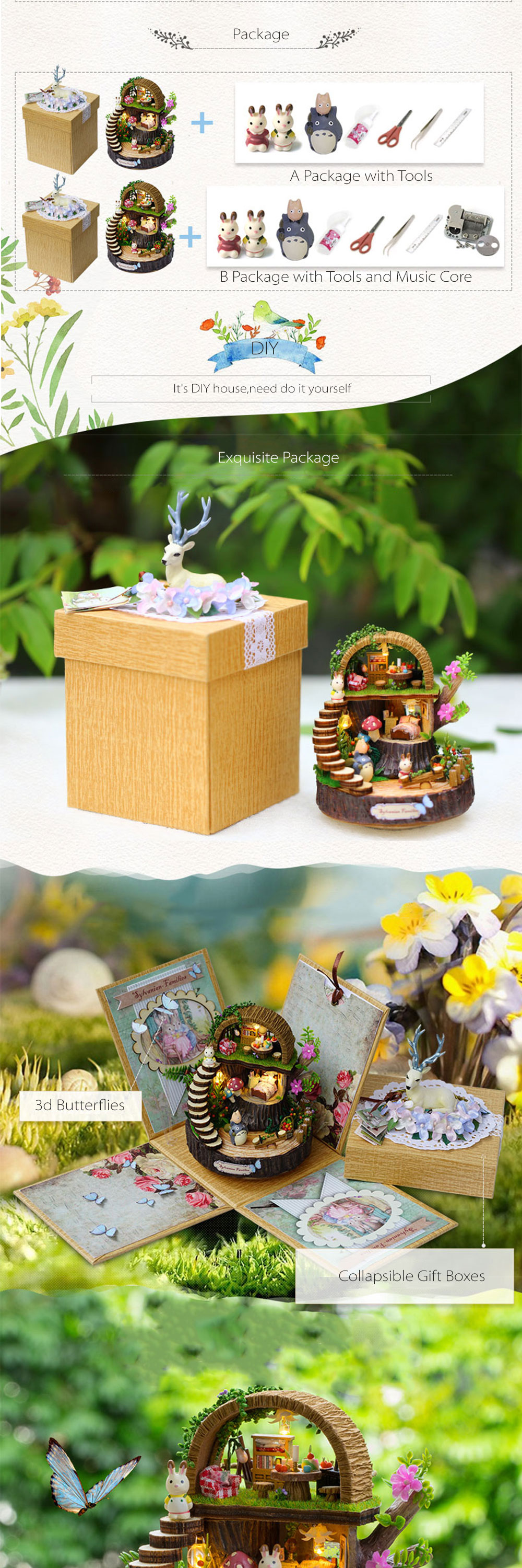Miniature diy dolls house kit fantasy forest apollobox miniature diy dolls house kit fantasy forest beautiful totoro dollhouse solutioingenieria Choice Image