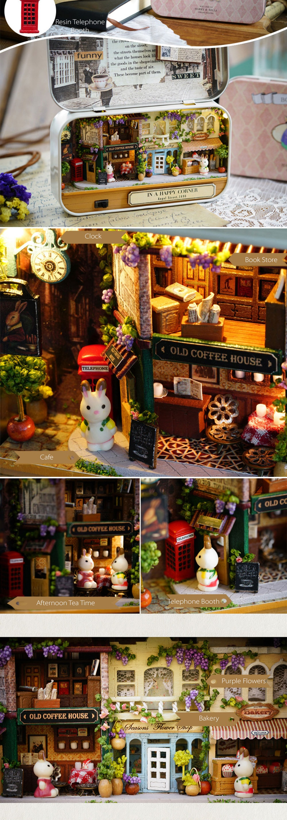 Miniature DIY Box Theatre Beautiful Dollhouse