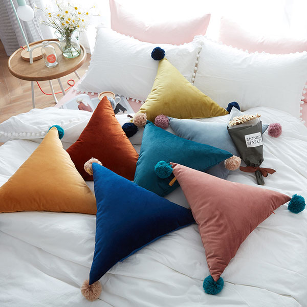 Triangle Shaped Throw Pillow