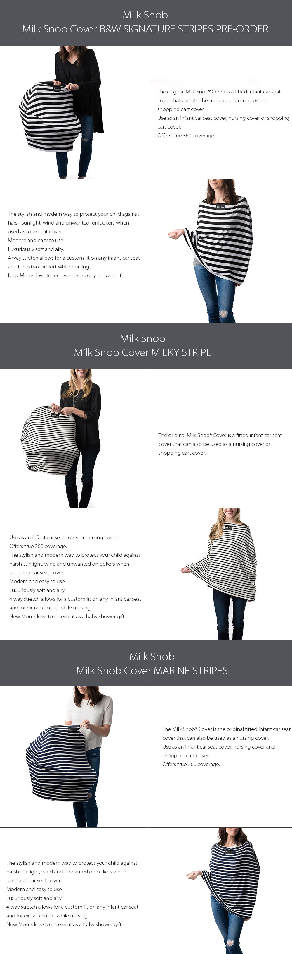 Milk Snob Infant Car Seat Cover and Nursing Cover AS SEEN ON SHARK TANK