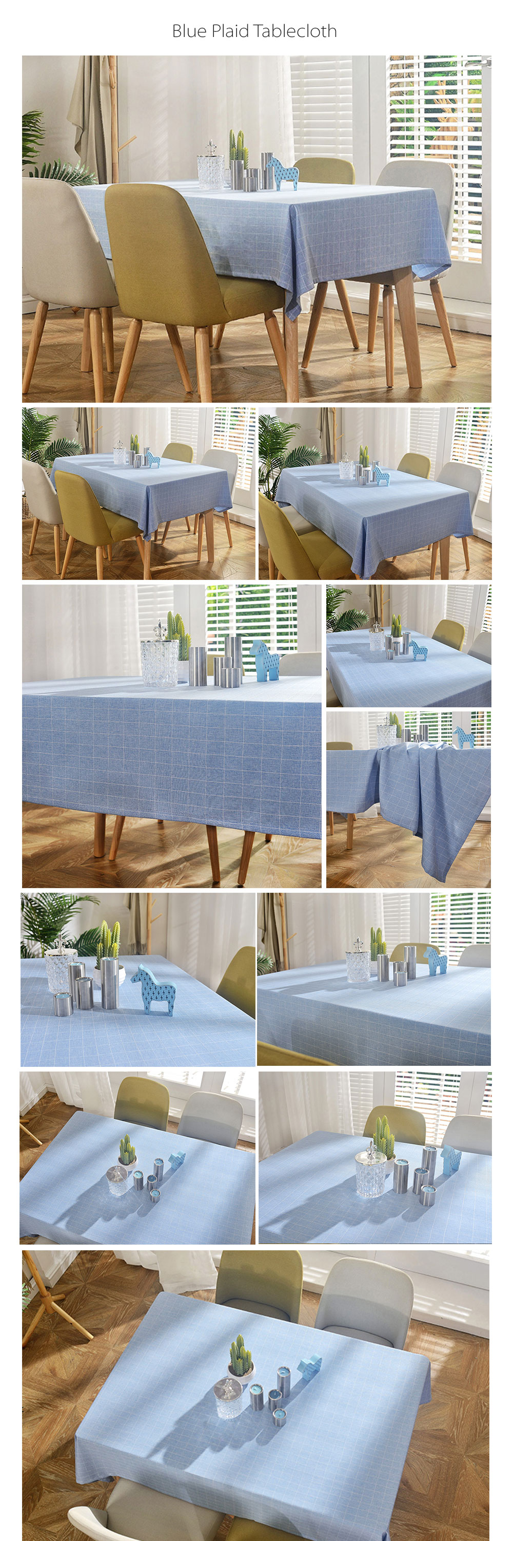 Plaid Tablecloth Made of Linen